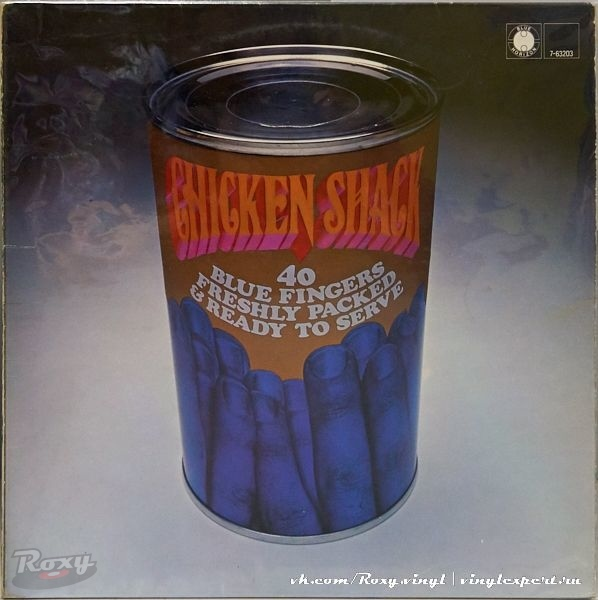 Обложка конверта виниловой пластинки Chicken Shack - Forty Blue Fingers, Freshly Packed and Ready to Serve