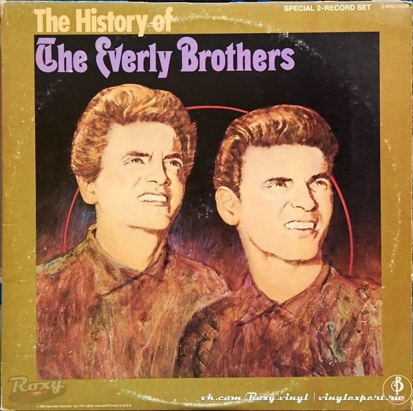 Обложка конверта виниловой пластинки Everly Brothers - The History of the Everly Brothers